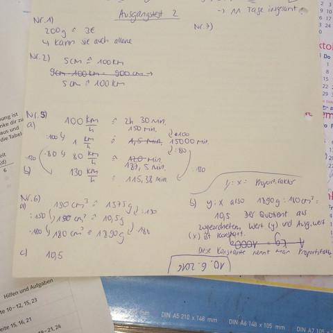 Meine Rechnung - (Mathe, Mathematik, ProportionaloderAntiproportional)