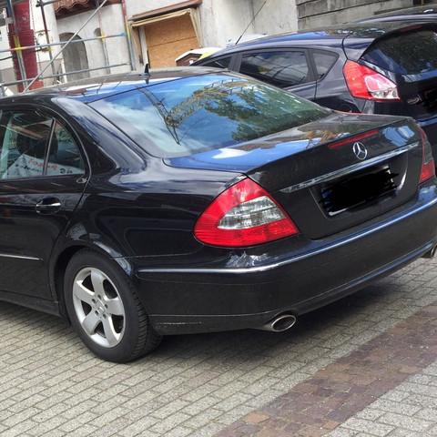 Mercedes von hinten - (Auto, Auto und Motorrad, Mercedes Benz)