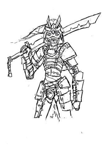 Samurai - (Kunst, zeichnen, digital)