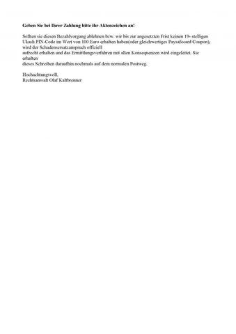 Ermittlungsschreiben Teil2 - (Musik, Download, Betrug)