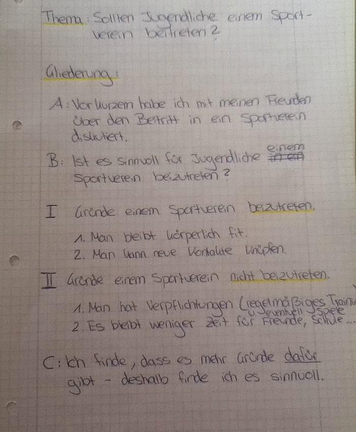errterung gliederung 10 klasse bitte um dringende hilfe schule sport deutsch - Gliederung Errterung Muster