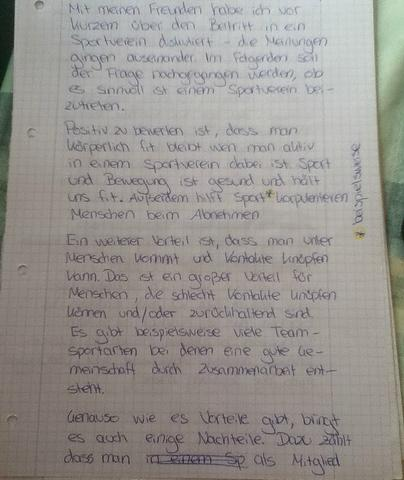 Erörterung 1 - (Schule, Sport, deutsch)