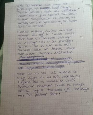 errterung 2 schule sport deutsch - Gliederung Errterung Muster
