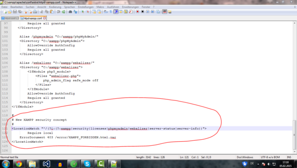 Konfigdatei - (html, Browser, PHP)