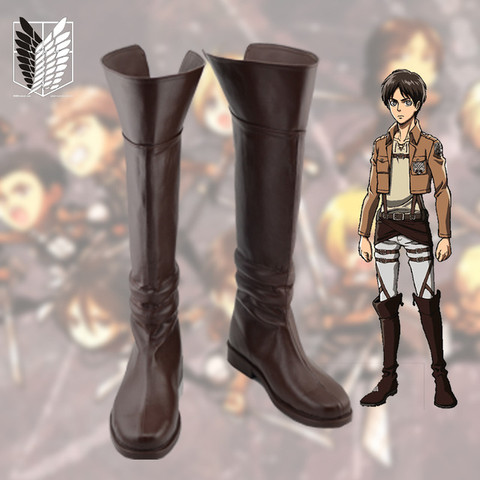 AOT ANIME ATTACK on Titan Cosplay braun Schuhe Stiefel Shoes