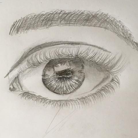 Erste Zeichnung Augen Zeichnen Augenbrauen