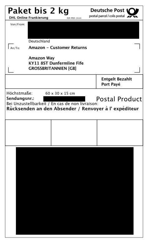 erstellung eines online dhl paketetscheins f r den versand nach gro britannien ausland paket. Black Bedroom Furniture Sets. Home Design Ideas