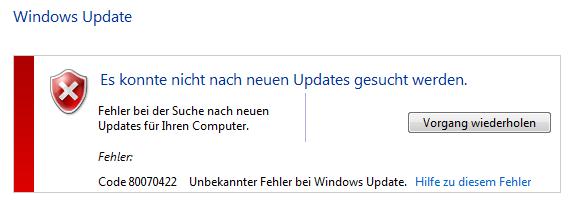 Windows 7 Es Konnte Nicht Nach Neuen Updates Gesucht Werden