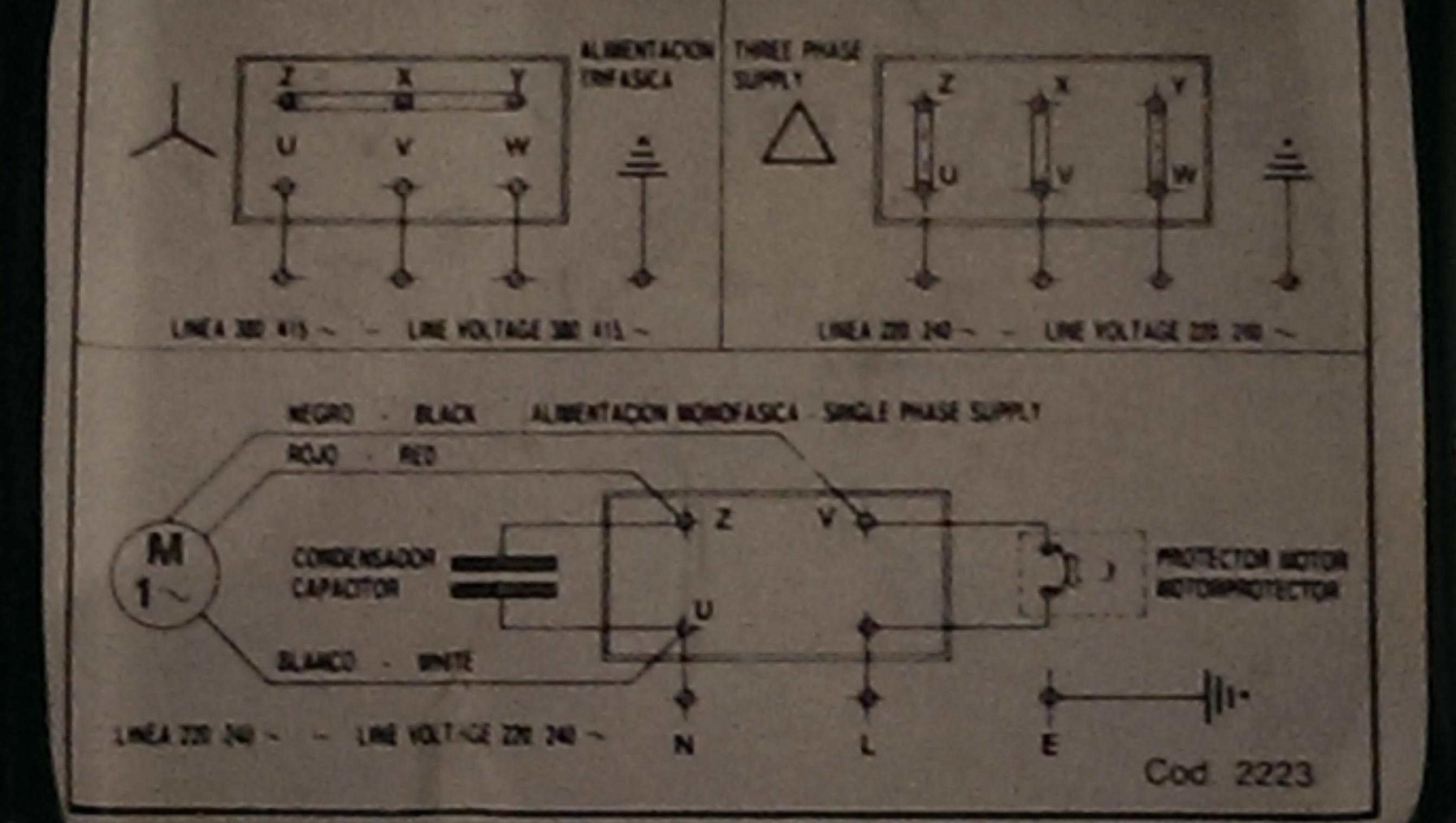 espa 20/5b auf 220 Volt umbauen/Anlaufkondensator (Technik, Haus)