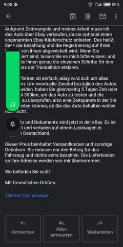 - (Auto, Verhandlung)
