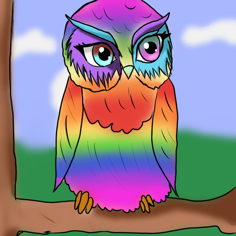 Uhm ja... Erste Eule oder Tier das ich jemals gezeichnet habe xD  - (Kunst, Meinung, zeichnen)