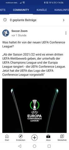 Eure Meinung zur neuen UEFA Conference League?