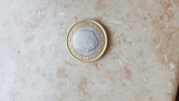 Euro Münze Von 1999 Gefunden Geld Münzen
