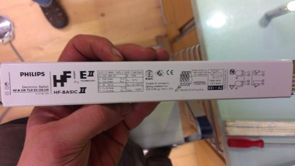 EVG anschliessen Elektronische Vorschaltgerät? (Strom, Lampe)