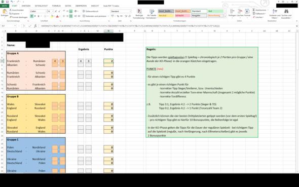 Soe sieht's aus... - (Mathe, Informatik, Excel)