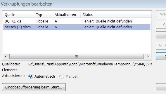 Bild 2 - (Verknüpfung, Excel 2010, Windows 07)
