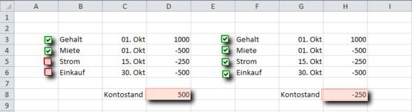 Beispiel - (Excel, Excel 2010)