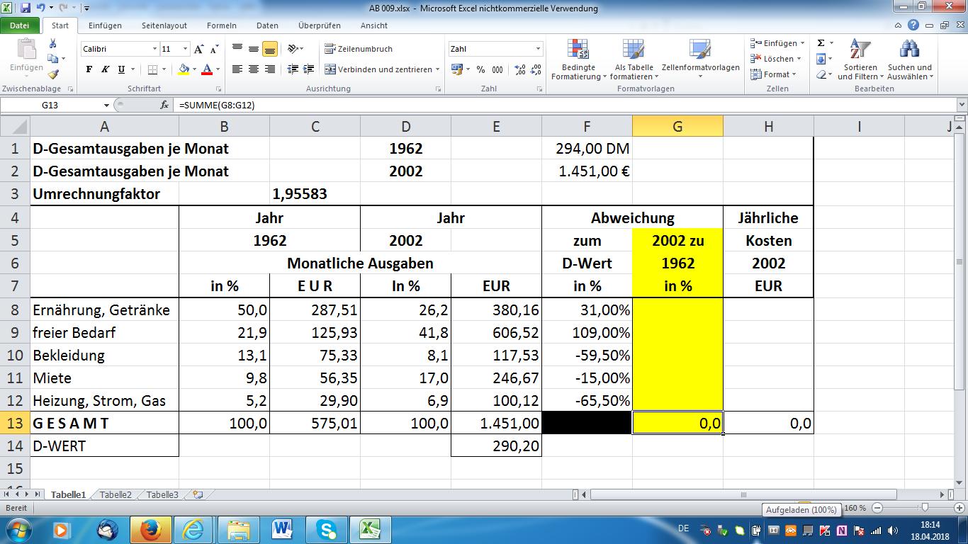 Excel 2010 übungen Mit Lösungen Kostenlos