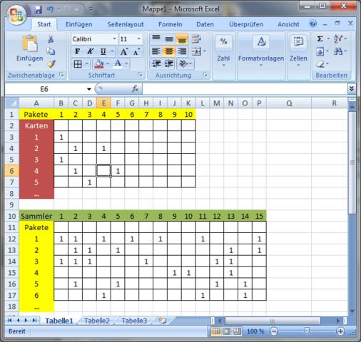 ein Screenie als Skizze - (Excel, Sammlungen)