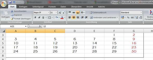 alle anderen Monate im gleichen Layout mit möglichst wenig Arbeit, geht das? - (Excel, Kalender, berechnen)