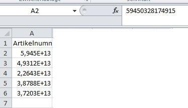 Bild 1 - (Excel, Zahlen, Formatierung)