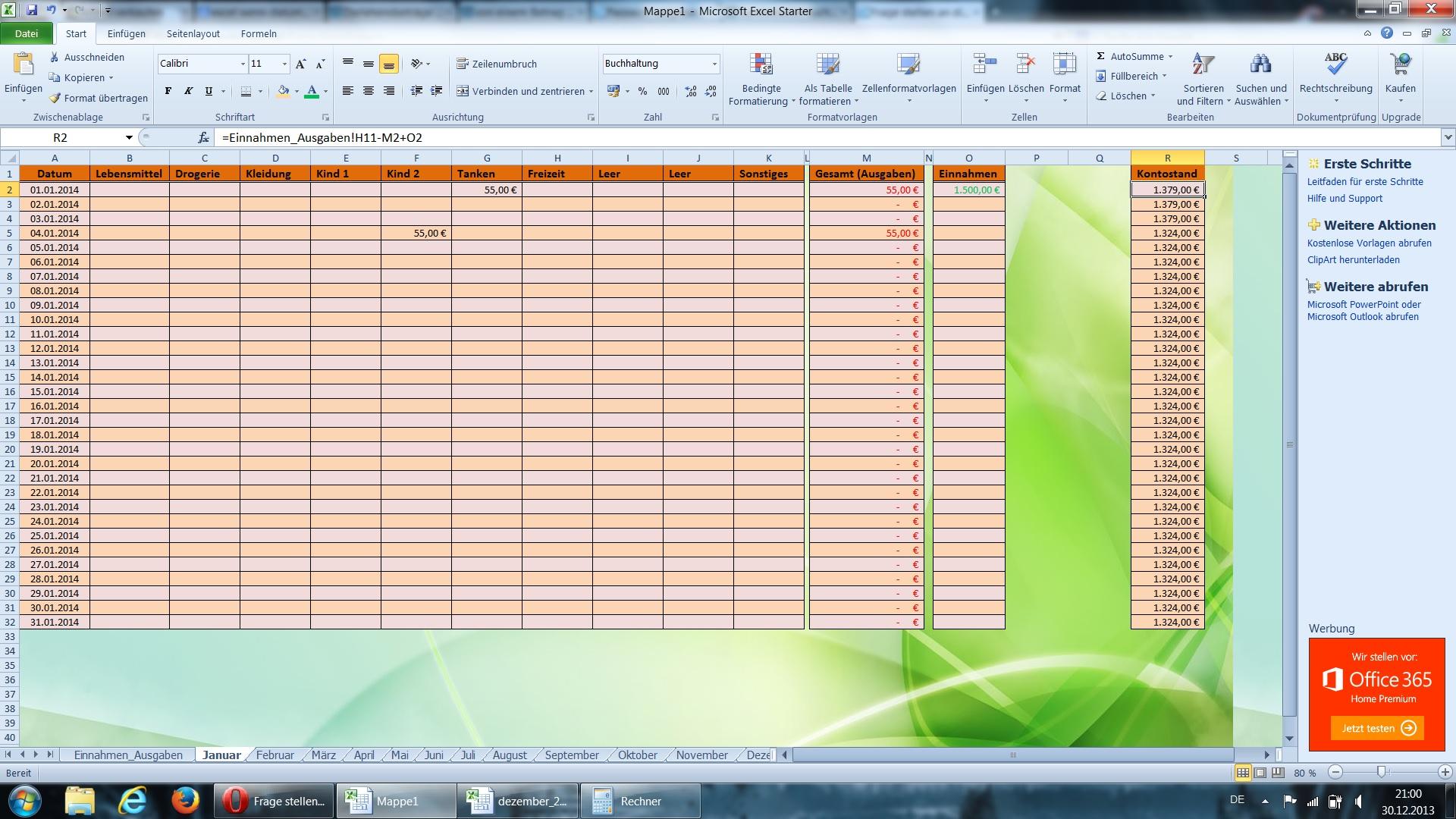 Excel Betrag