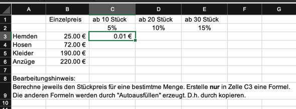 Excel Formeln?