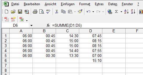 Zeiten - (Excel, arbeitszeiten, Tabellenkalkulation)