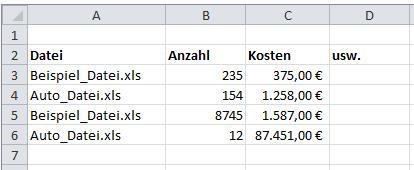 Beispiel - (programmieren, Excel, Office)