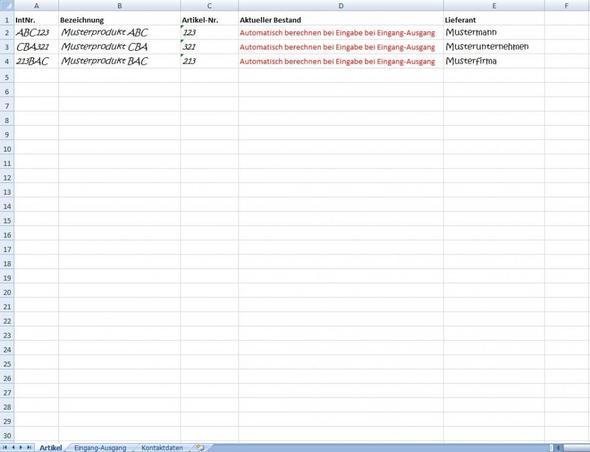 Tabelle 1 - (Microsoft, Excel, berechnen)