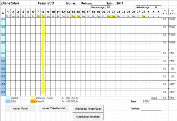 So soll es aussehen - (Excel, makro)