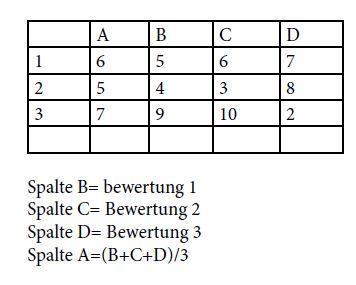 Tabelle - (Excel, Formel)
