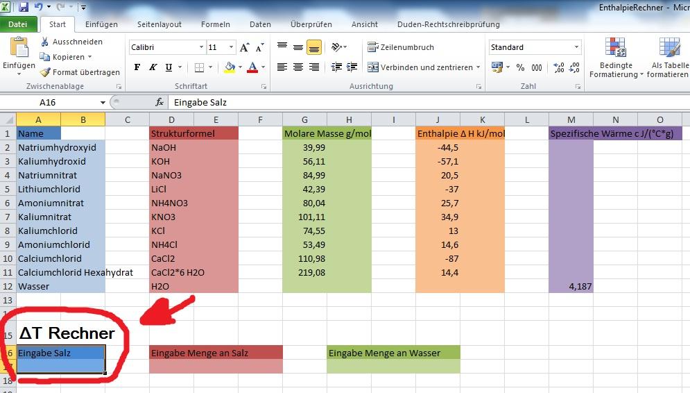 Excel-Rechenprogramm erstellen, nach Eingabe von Namen zugehörige ...
