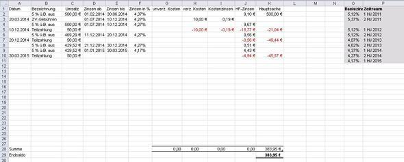 So soll es aussehen - (Excel, rechnen, Formel)