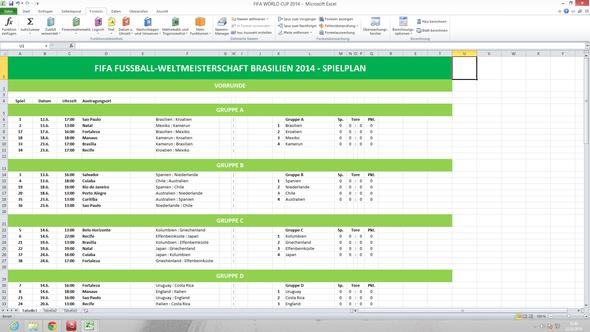 Excel-Spielplan - (PC, Excel)