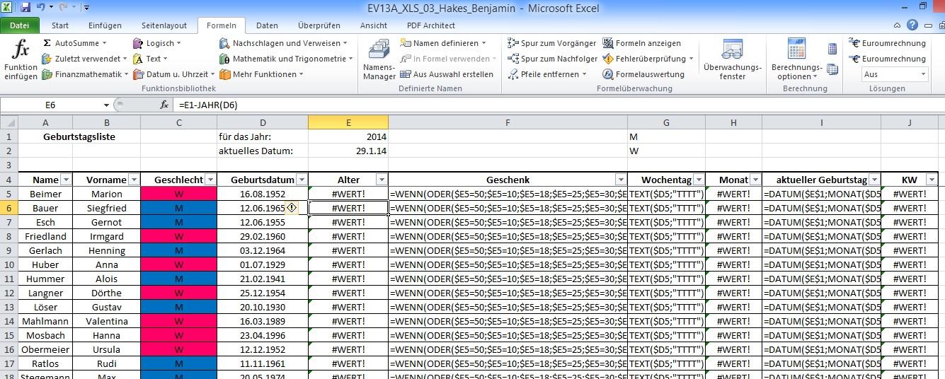 Excel Formel Hilfe