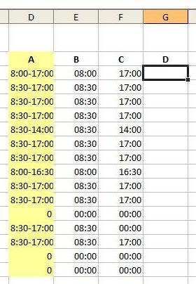 Kommt-Geht-Zeiten  - (Excel, Tabelle)
