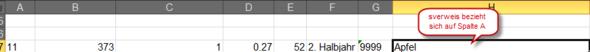 Bild von Excel Spalten - (Computer, programmieren, Excel)