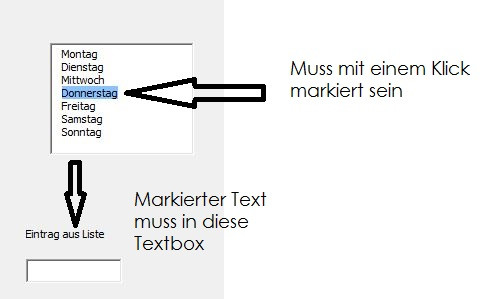 Excel VBA Text in andere Textbox bringen? (Computer, PC, Programm)