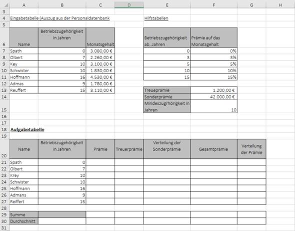 Excel WENN FORMEL?