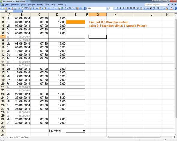 Excel Tabelle - (Excel, excel-formel)