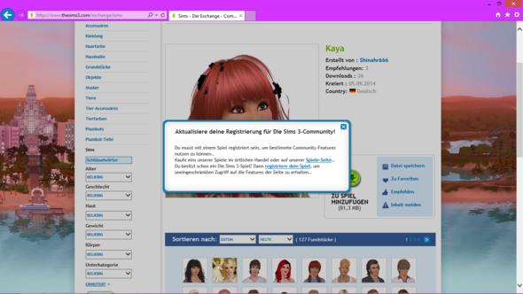 Exchange funktioniert nicht - (Games, Sims 3, Exchange)