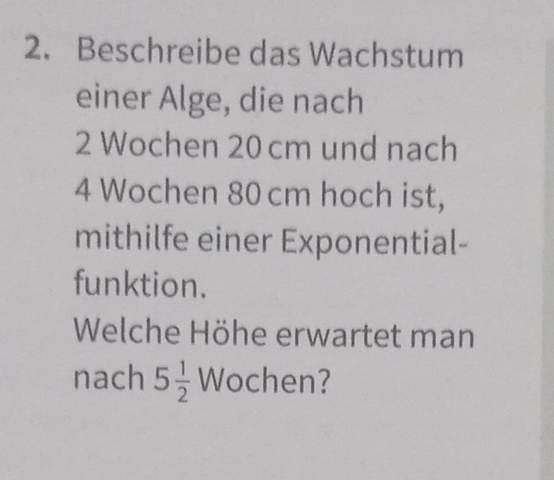 Exponentialfunktionen?