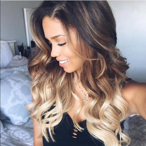 Frisur blond zu braun