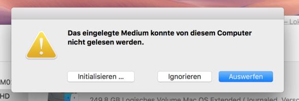 Screenshot Mac Festplattendienstprogramm - (Mac, externe Festplatte, Datenrettung)