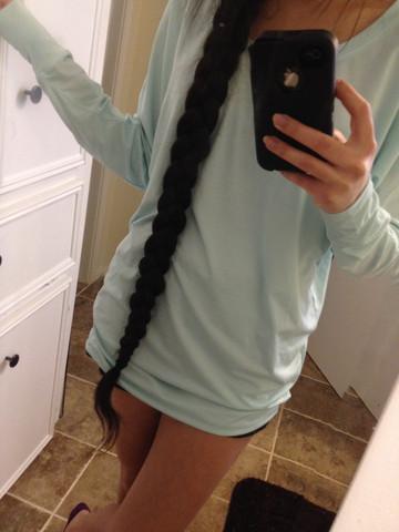 Extrem Lange Haare Attraktiv Frisur