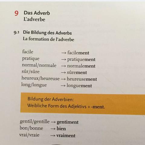 Das Adverb - (Schule, Lehrer, franzoesisch)