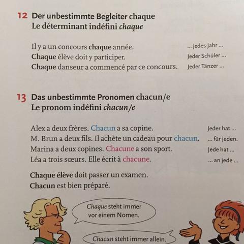 Chaque/Chacun - (Schule, Lehrer, franzoesisch)