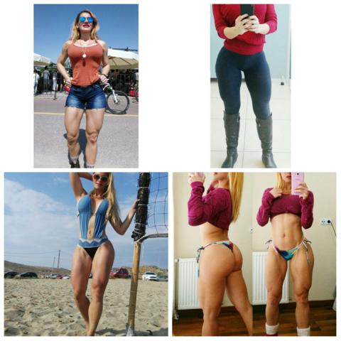 Beine frau muskulöse Muskolöse Beine