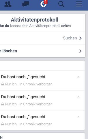facebook aktivitätenprotokoll